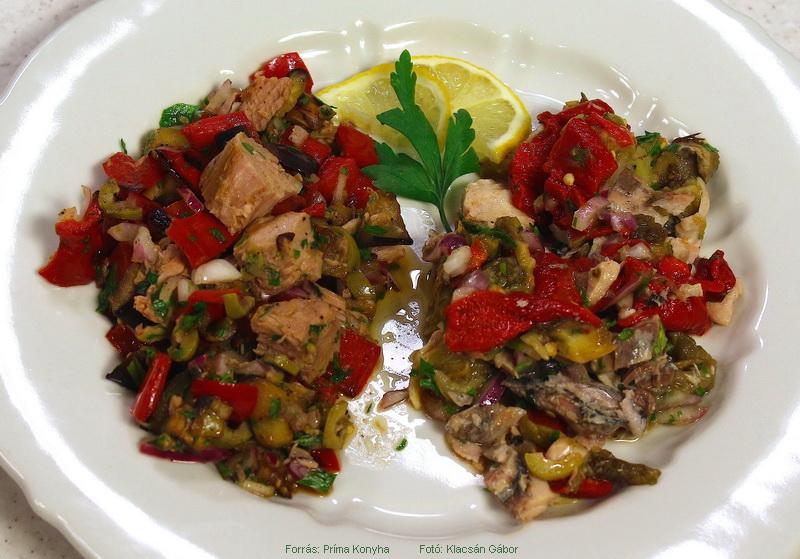 Sült zöldséges makrélasaláta