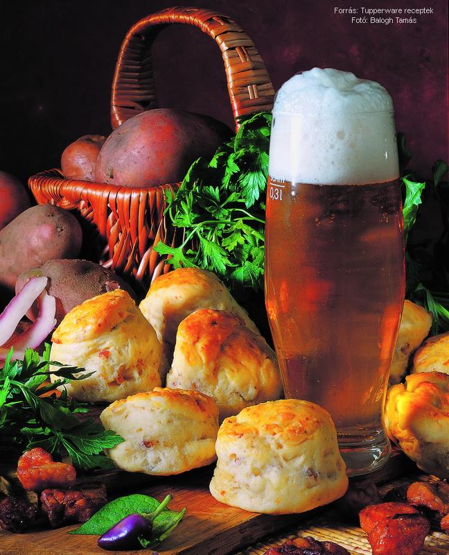 Krumplis töpörtyűs pogácsa