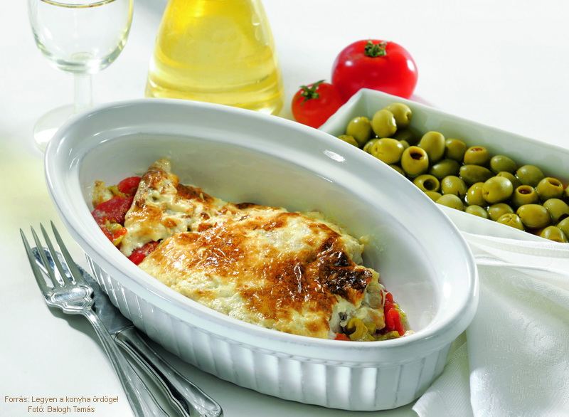 Baked fish with Tomatoes and Mayonnaise - (Paradicsomos, majonézes sült hal)