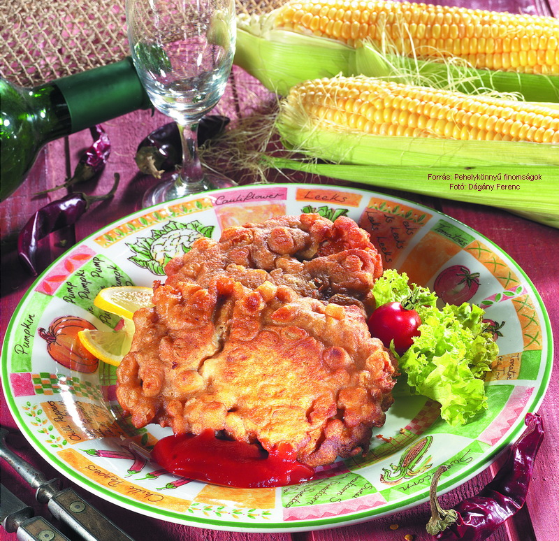 Tengeri halfilé zabpelyhes kukoricabundában
