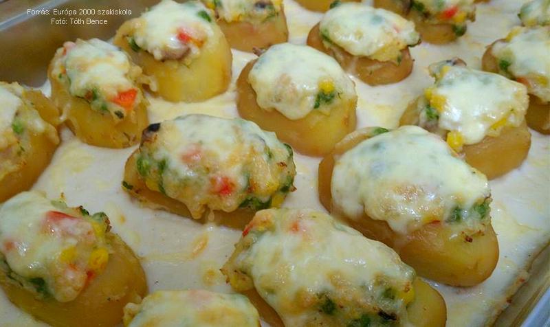 Zöldséges töltött krumpli