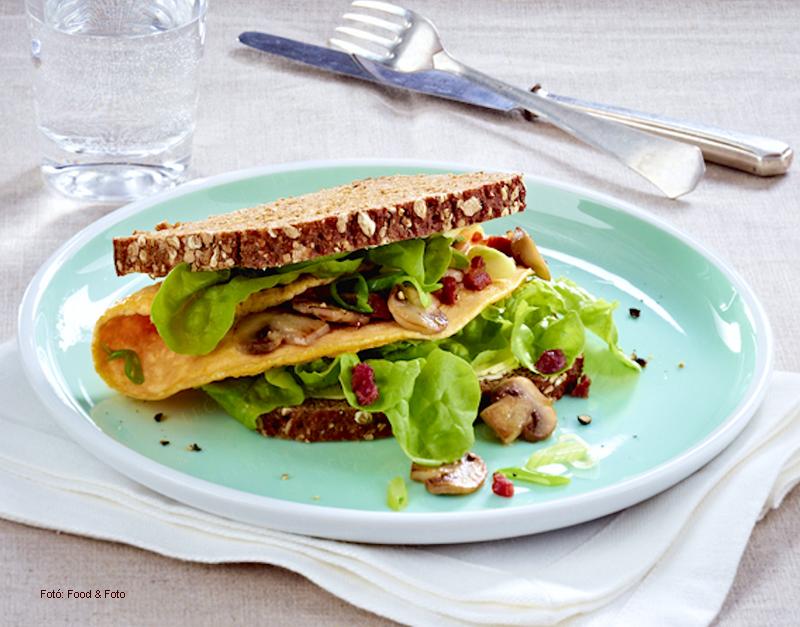 Gazdasszony omlettes szendvicse