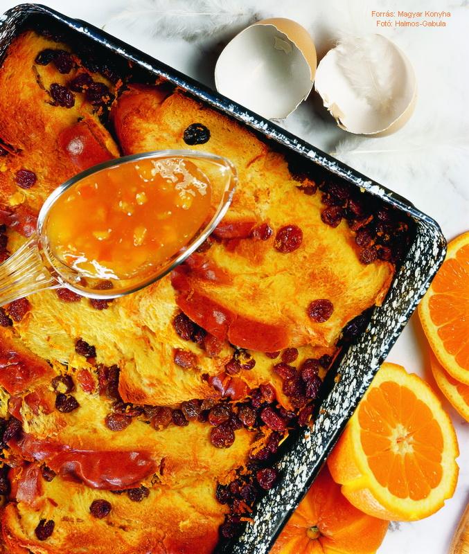 Mazsolás, narancsos kalácsfelfújt