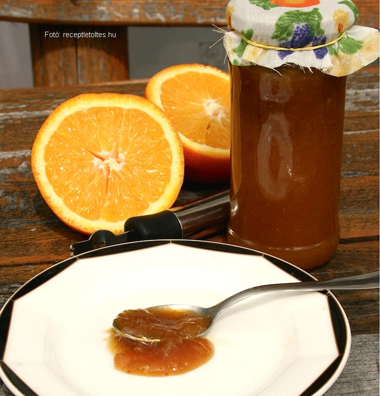 Narancsdzsem zöldcitrommal (lime) bolondítva
