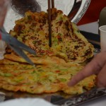 """Buchimgae (koreai zöldséges """"palacsinta"""")"""