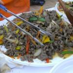 Bulgogi (koreai zöldséges marhahús szójaszósszal)