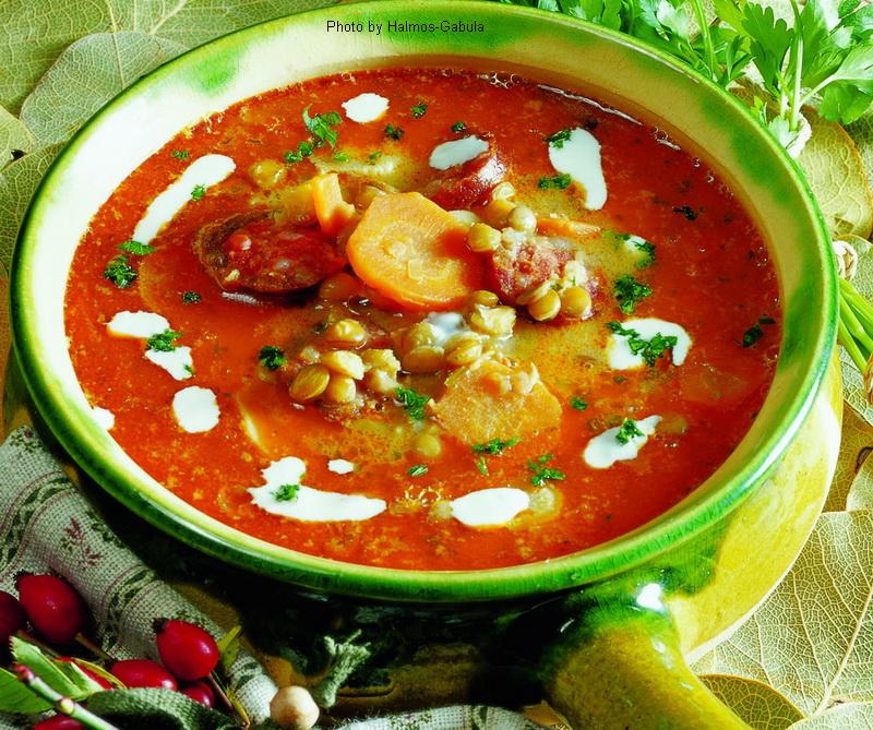 Zuppa di lenticchie piccante - (pikáns lencseleves)