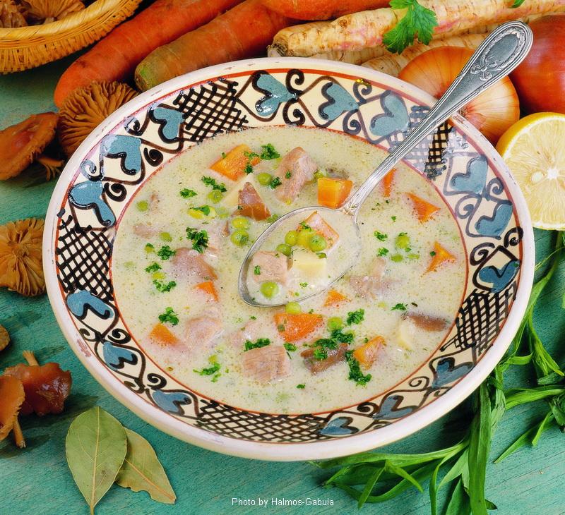 Zuppa di maiale al dragoncello - (tárkonyos sertésraguleves)