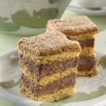Dióhabos, csokikrémes kocka (belga krémes)