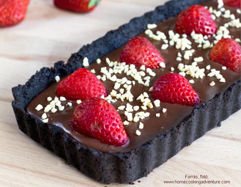 Epres, csokikrémes szelet sütés nélkül