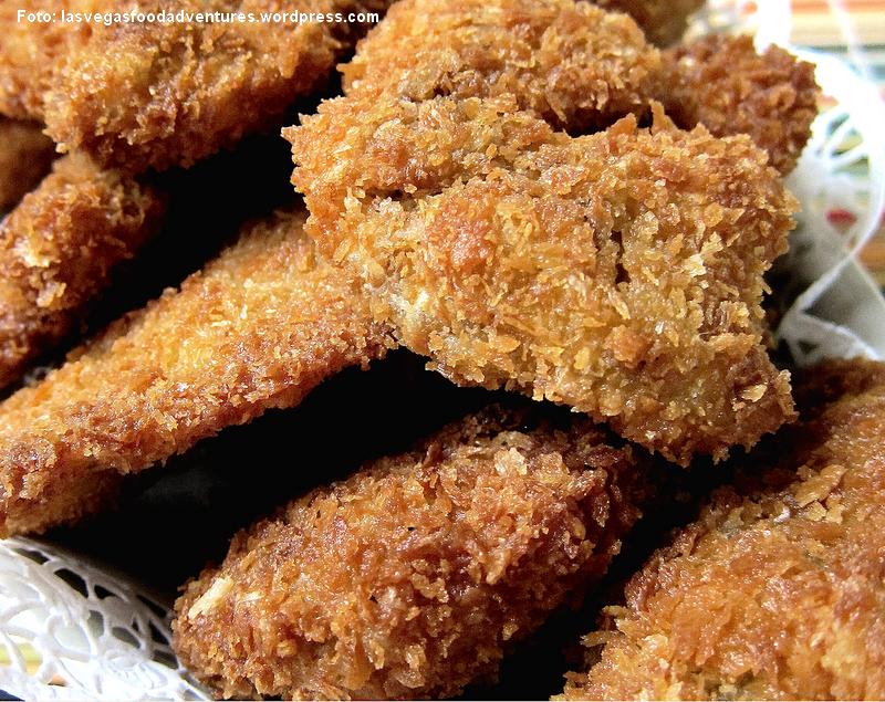 Panko morzsában rántott csirkemáj