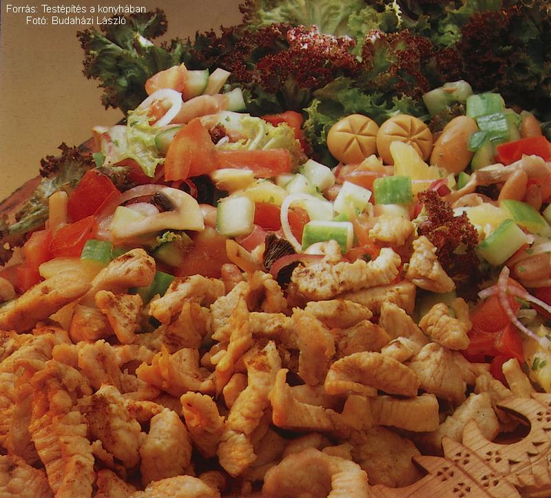 Currys pulykacsíkok aerobic salátával