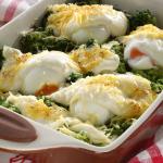 Csőben sült lágy tojás brokkolival