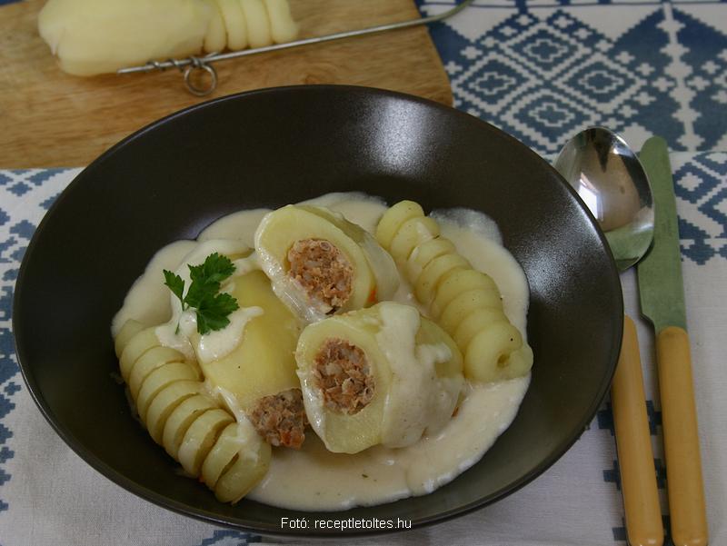Takarékos töltött krumpli