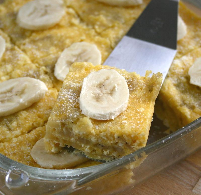 Banános túrókocka mikróban - Receptletöltés