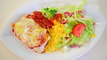 Csirkés, sajtos enchilada (burrito, quesadilla) – készült az OnLive© főzőiskola 20. adásában