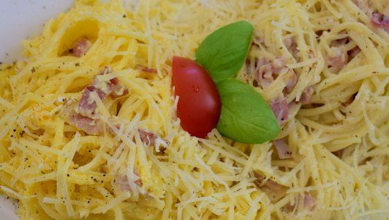 Spagetti carbonara 2. – készült az OnLive© főzőiskola 23. adásában