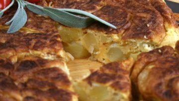 Spanyol krumplis omlett (tortilla)