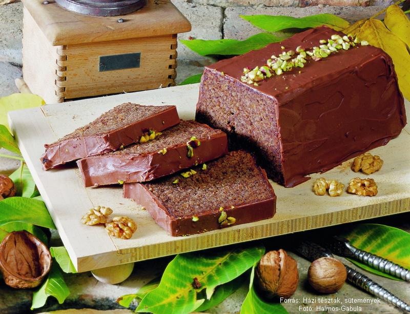 Csokoládés, diós szelet