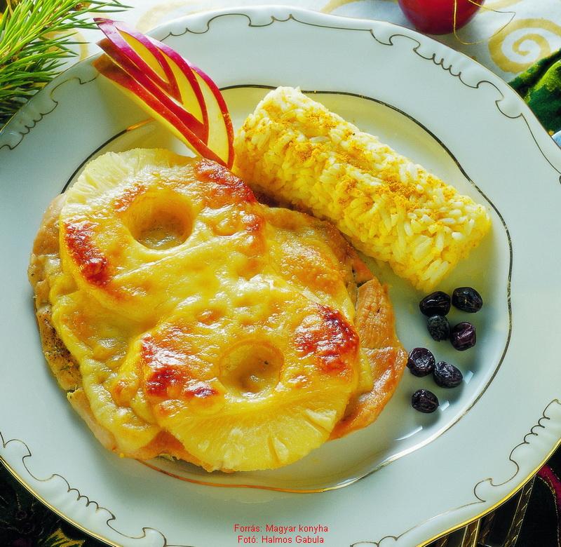 csirke és ananász étrendi