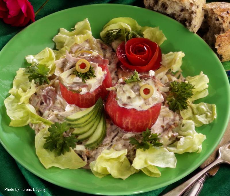 Ungarischer Fleischsalat - (Magyaros hússaláta)