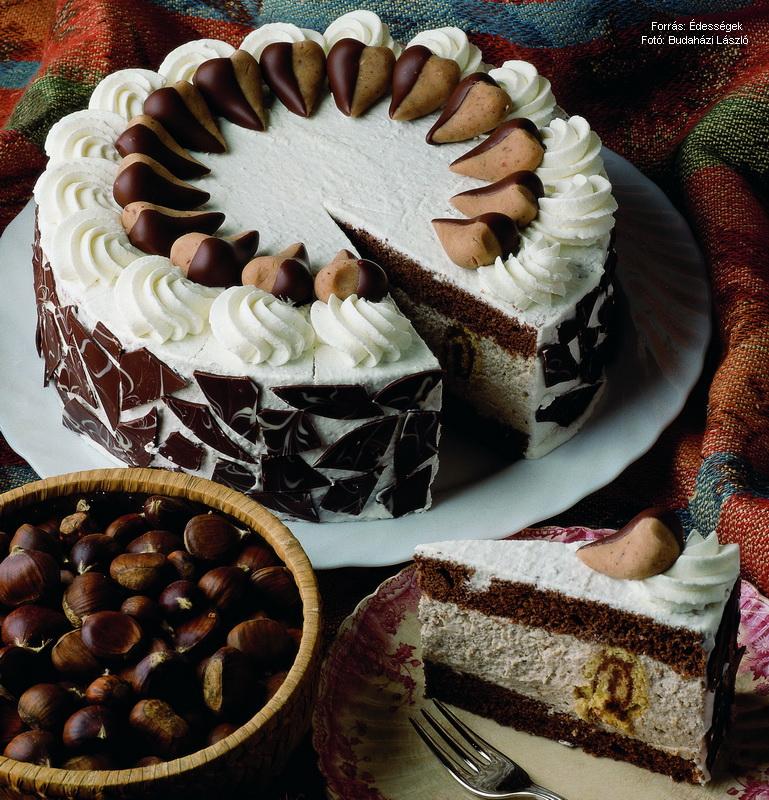 gesztenye torta képek Extra gesztenyetorta – készítette Czermann János mestercukrász  gesztenye torta képek