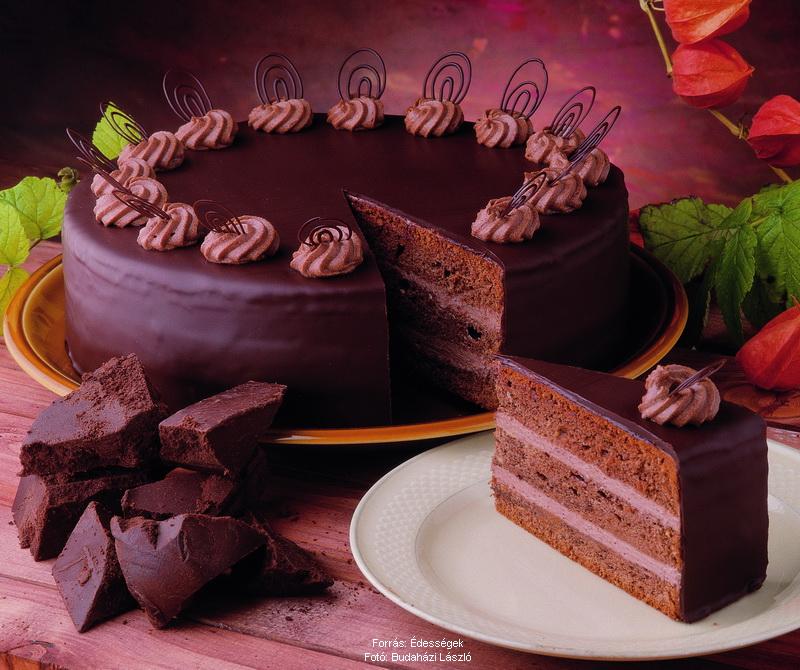csokoládé torta képek Klasszikus csokoládétorta – Receptletöltés csokoládé torta képek
