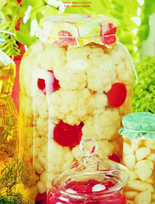 Ecetes karfiol télire