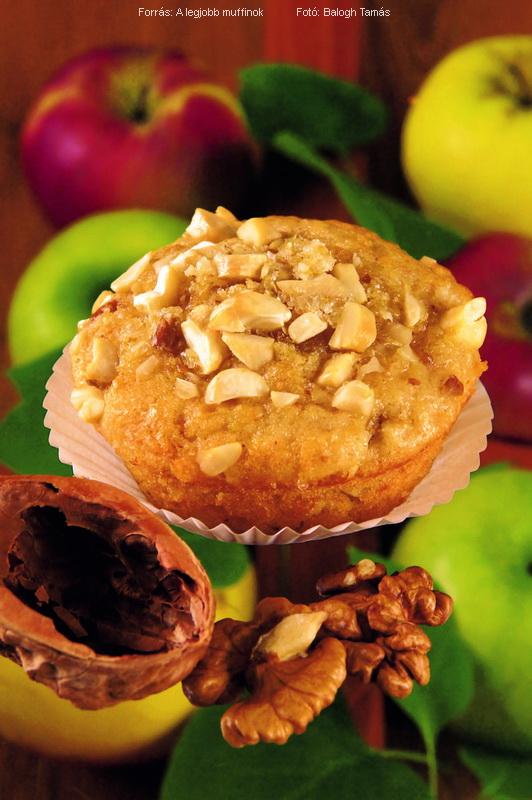 Almás, diókérges muffin