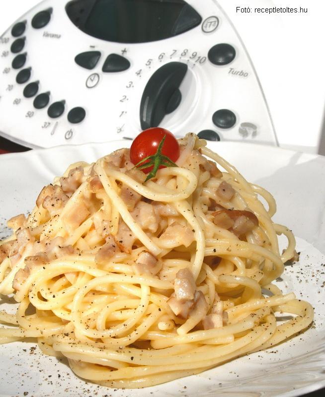Spagetti majdnem carbonara - Thermomix recept