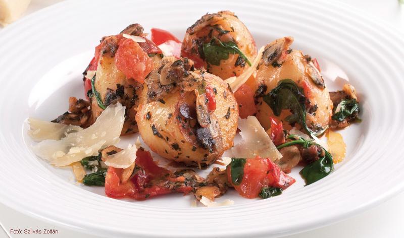 Krumpli olaszos stílusban (bazsalikomos pesztóval)
