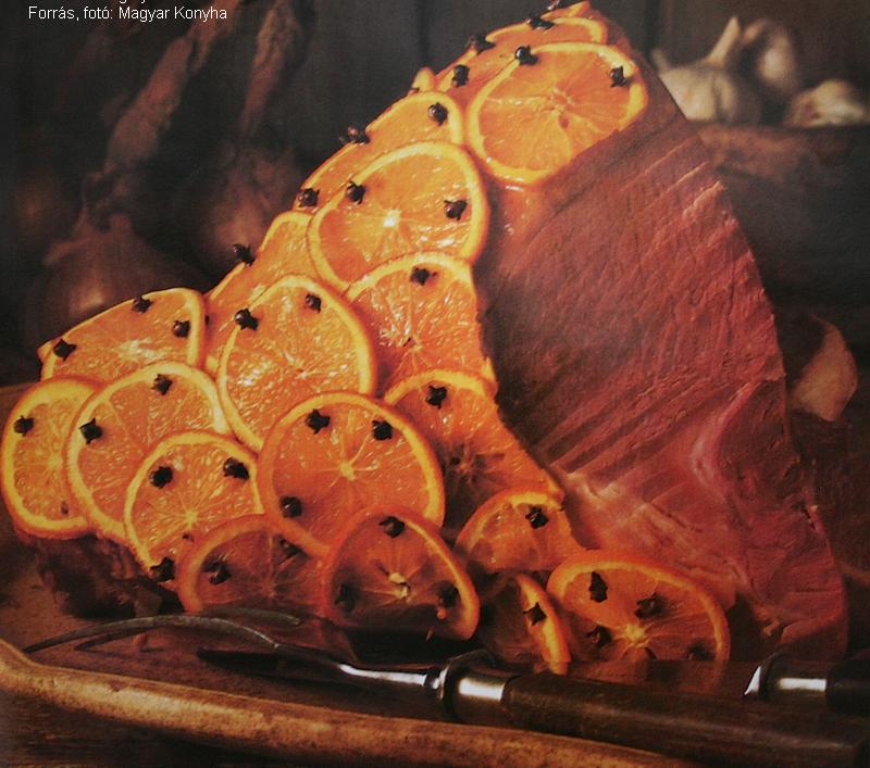 Narancsos sült sonka