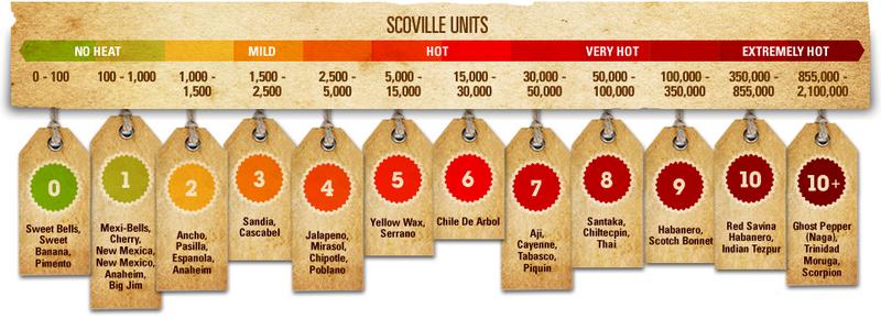 Scoville egység, avagy mennyire csíp a paprika?